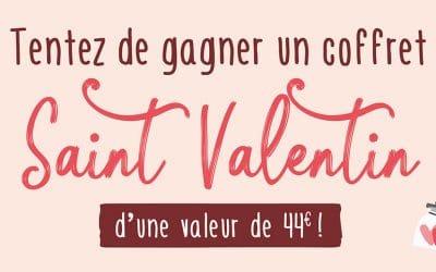 Remportez un coffret spécial Saint Valentin dans votre magasin L'Eau Vive !